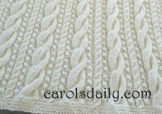 Cable and Bobble Afghan