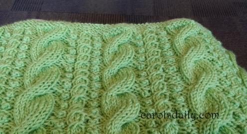 Baby Cable and Bobble Afghan
