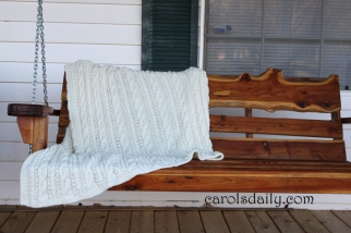 Cable and Seed Stitch Afghan