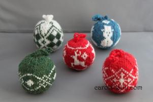 Knit Christmas Ball